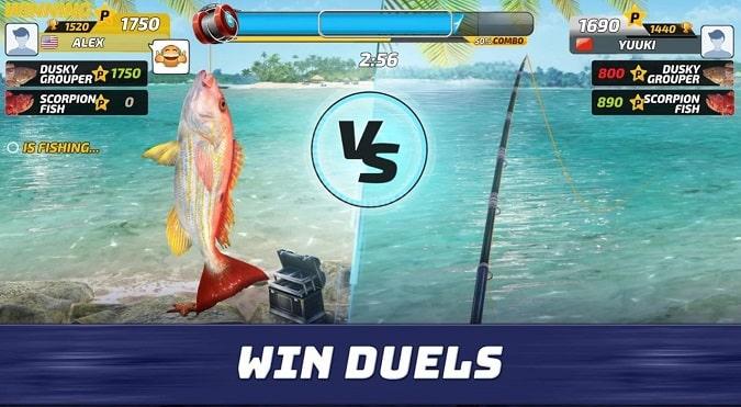 اشتباك الصيد Fishing Clash --أفضل 5 ألعاب صيد للأندرويد في عام 2021