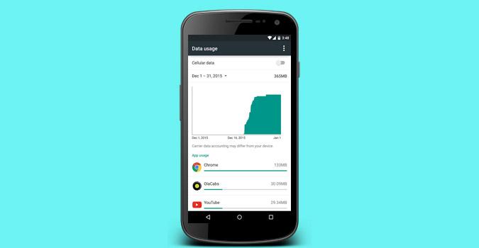 كيفية مسح استخدام البيانات على Android