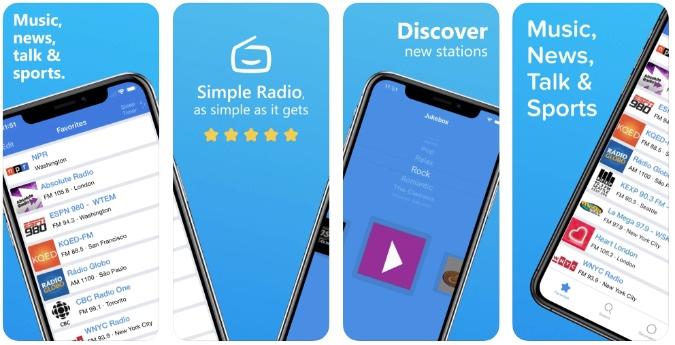 simple radio for iPhone