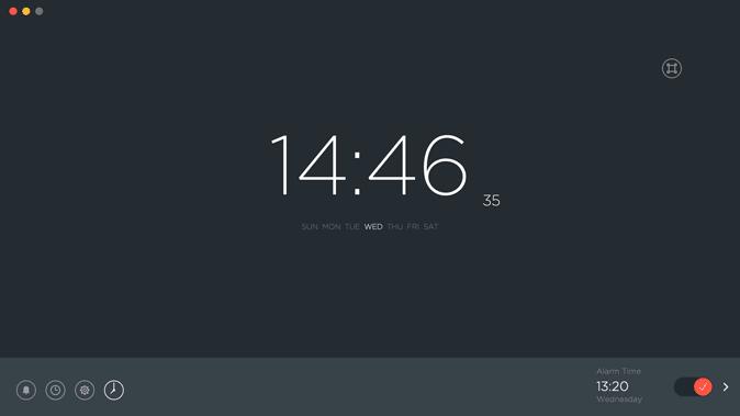 sleep alarm clock- minimal alarm app for mac