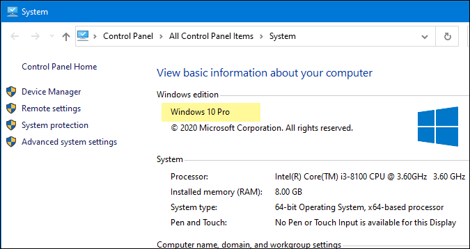 find windows 10 editions