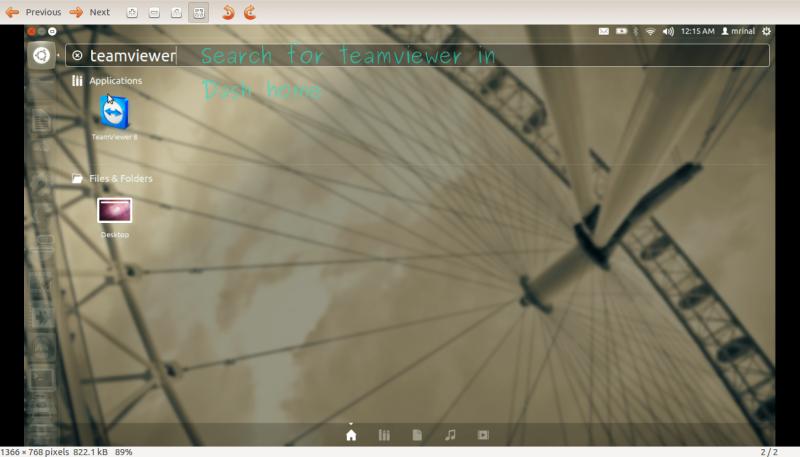 قم بتثبيت برنامج TeamViewer 8 لـ Ubuntu 12 . 04