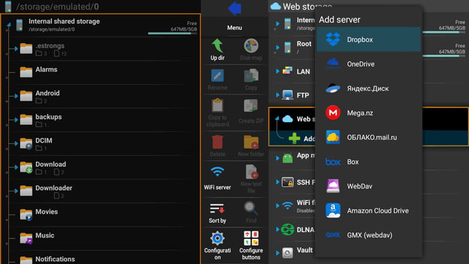 x-plore file manager on fire stick